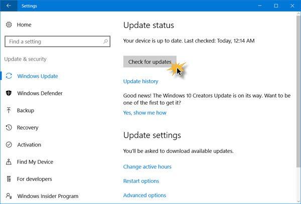 Download de update voor Windows 10 oktober 2018