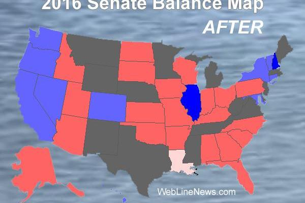 2016 Senate Election Balance Map Results as They Come In – Web Line News
