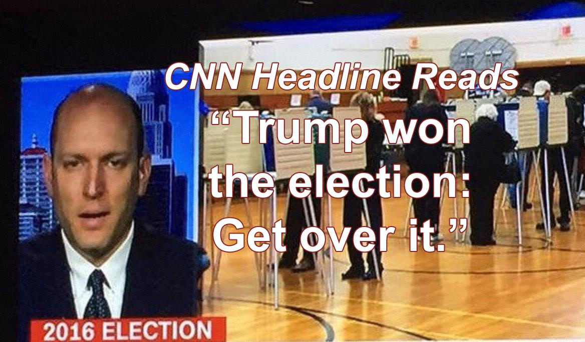 "CNN Flaunts Election Expert to Stop Recount, ""Trump Won, Get Over It"""