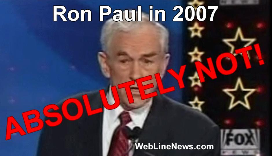 """Memory Hole: Ron Paul Opposes 9-11 Official Story? """"Absolutely Not"""""""