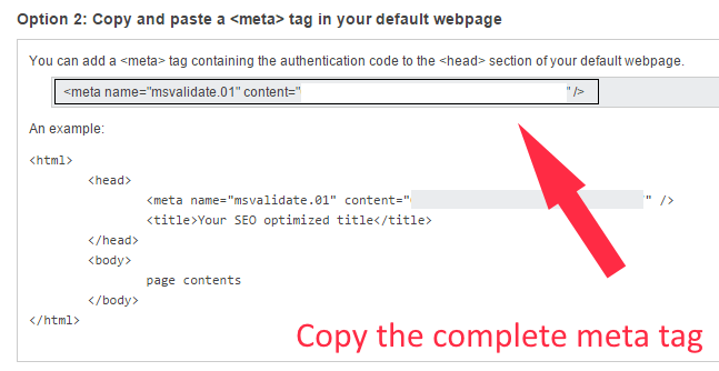 Add meta tag to Header File