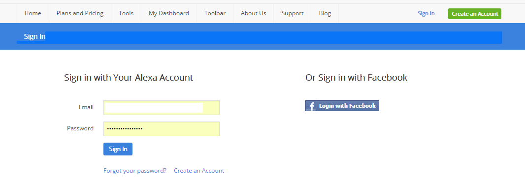 Sign In with your E-Mail ID