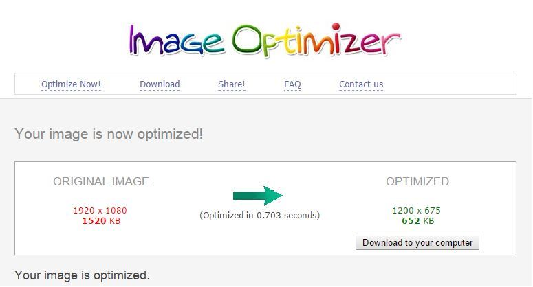 Image Optimizer Tool