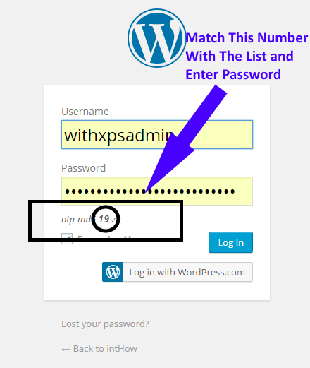Result of One-Time Password