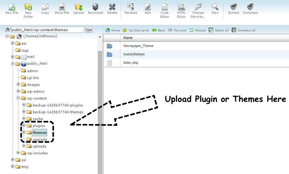 upload-plugin-theme-via-ftp
