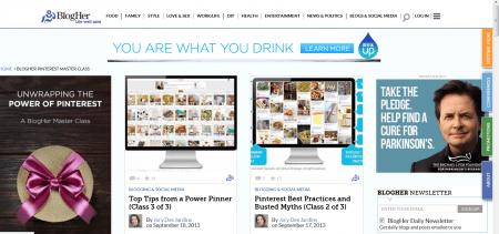 Screenshot de Home BlogHer