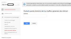Google Analytics - Escludi referral