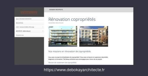 création site vitrine architecte