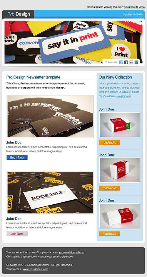 Pro Design Newsletter Template