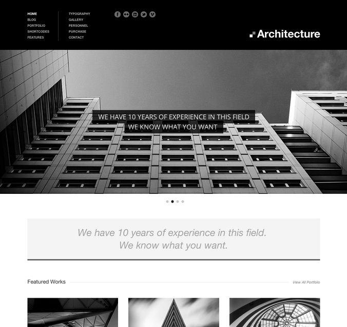 Architecture Real Estate WordPress Theme
