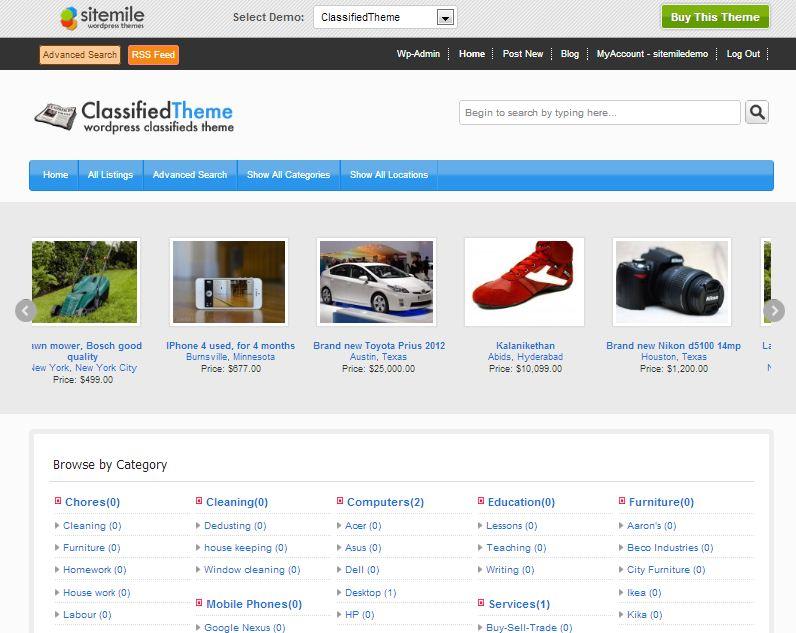 Classified Real Estate WordPress Theme