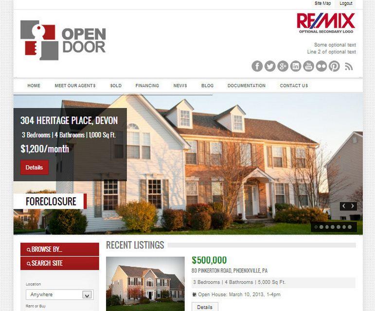 Open Door Real Estate WordPress Theme