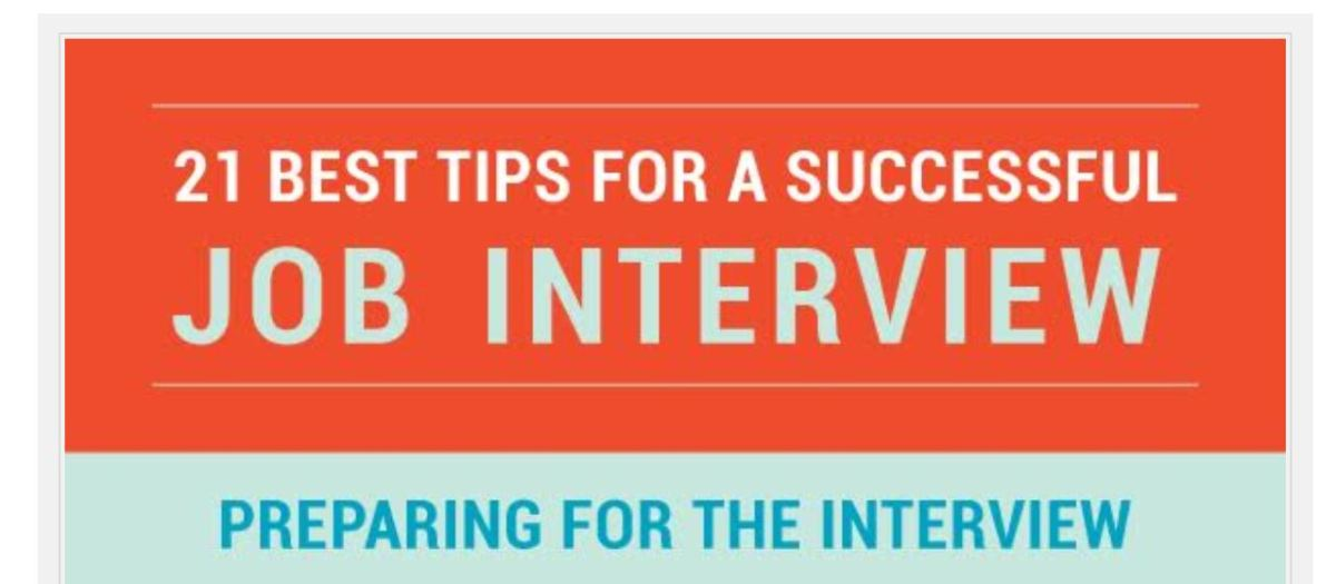 21 Top Tips to Impress in Your Next Job Interview