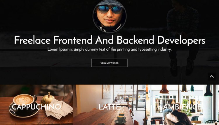 Personal Free Bootstrap Template