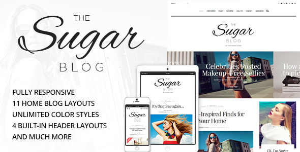SugarBlog Clean & Personal WordPress Blog Theme