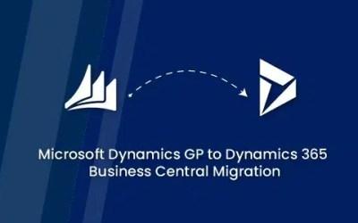 Microsoft Dynamics GP to Dynamics 365 Business Central Migration