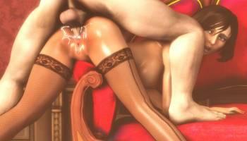 Elizabeth DeWitt de Bioshock hentai se fait enculer