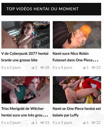 Top vidéos hentai