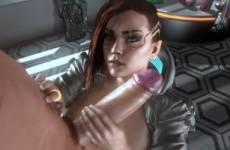 V de Cyberpunk 2077 hentai branle une grosse bite