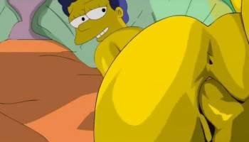 Marge Simpson se fait prendre le cul en levrette
