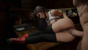 Grosse sodomie pour Tifa de Final Fantasy 7 Remake hentai