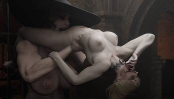 Alcina lèche la chatte de Bela dans Resident Evil 8 hentai