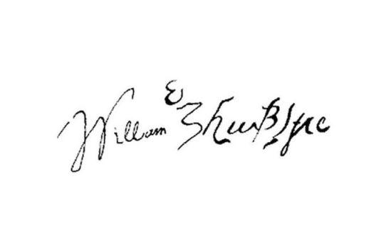 автограф на Уилям Шекспир
