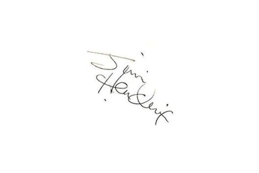 Автограф на Джими Хендрикс