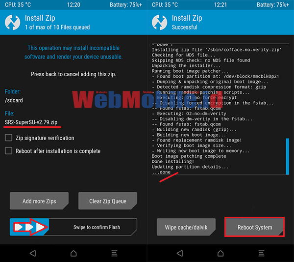 cara pasang twrp redmi note 4x (mido) support update ota