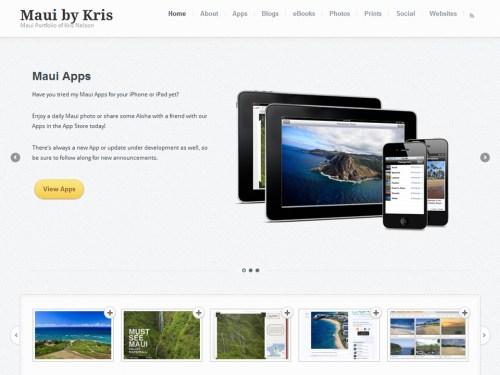 Maui by Kris portfolio homepage