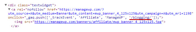 Affiliate Link Tracking Source Code