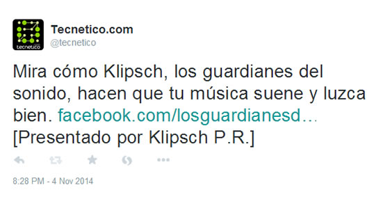 KLIPSCH - A leader in the audio category, Klipsch's local Caribbean representatives, Triality Distributors, asked us to come up with ways to help drive traffic to their Facebook page. This is still ongoing, but the results look promising!
