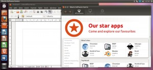 Ubuntu Writer und Softwarecenter