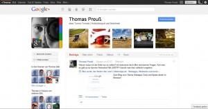 Das Google+ Profil