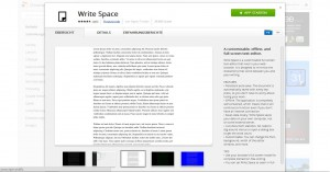 Write Space für Google Chrome im App Store