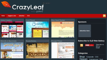 crazyleafdesign homepage
