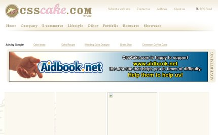 csscake homepage