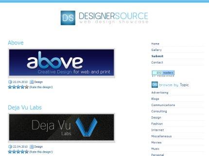 designersource homepage