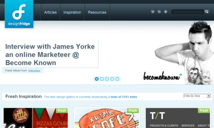 designfridge homepage