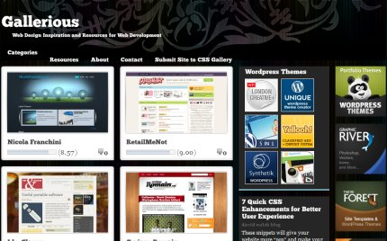 gallerious homepage
