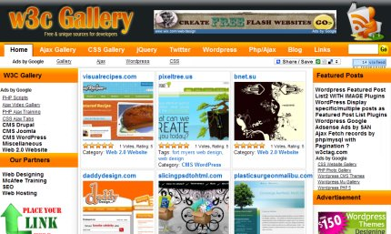 w3cgallery homepage