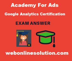 Google Analytics Individual Qualification Exam Answer