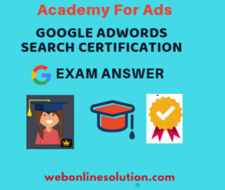 Google AdWords Search Certification Exam Answer