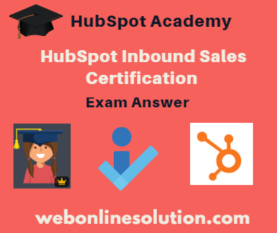 HubSpot Inbound Sales Certification Exam Answer Sheet
