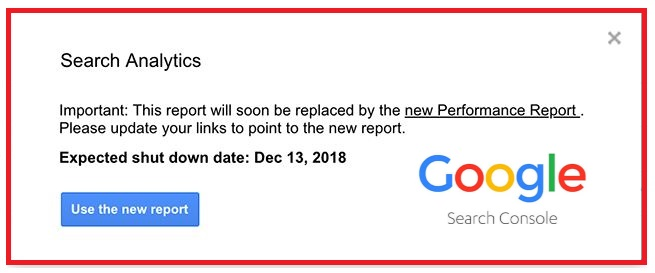 Update Google Search Console Reports