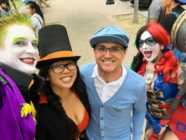 Joker, Harley, Layton, and Luke