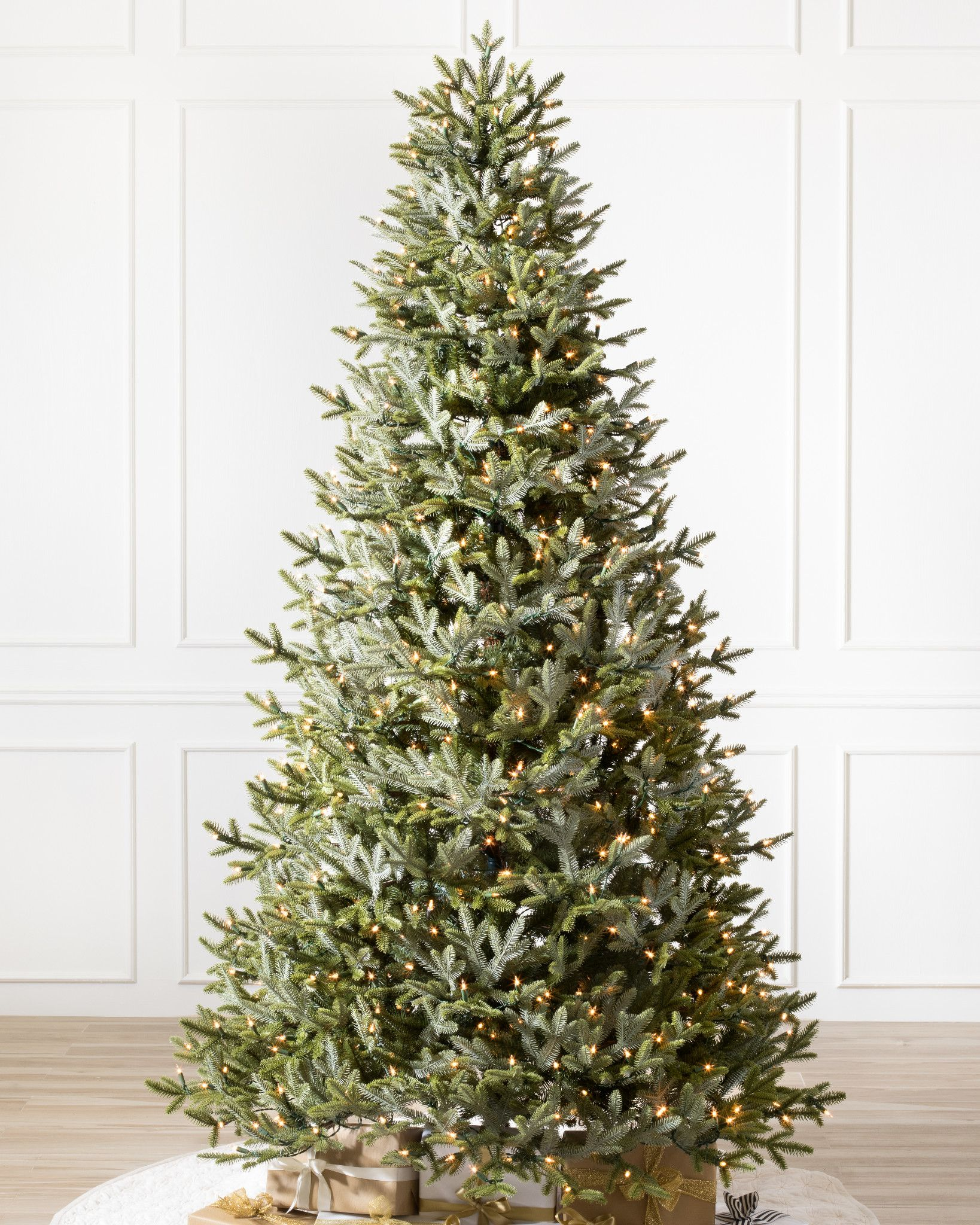 Fraser Fir Narrow Artificial Christmas Tree Balsam Hill