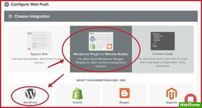 send push notifications from wordpress site
