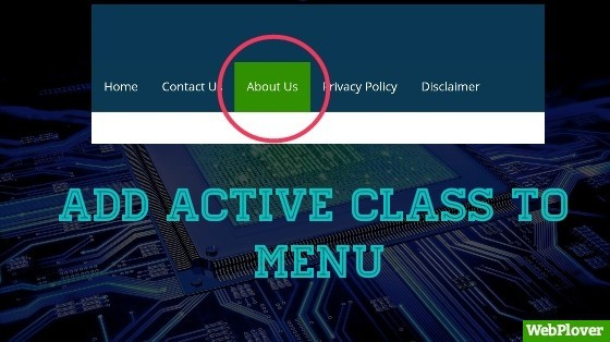 add active class to menu
