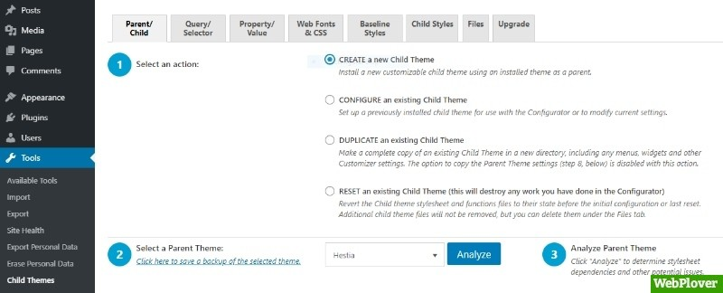wordpress-child-theme-configurator-plugin